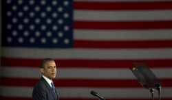 President Obama speaks at a campaign event on Oct. 11, 2012, in Miami. (Associated Press)