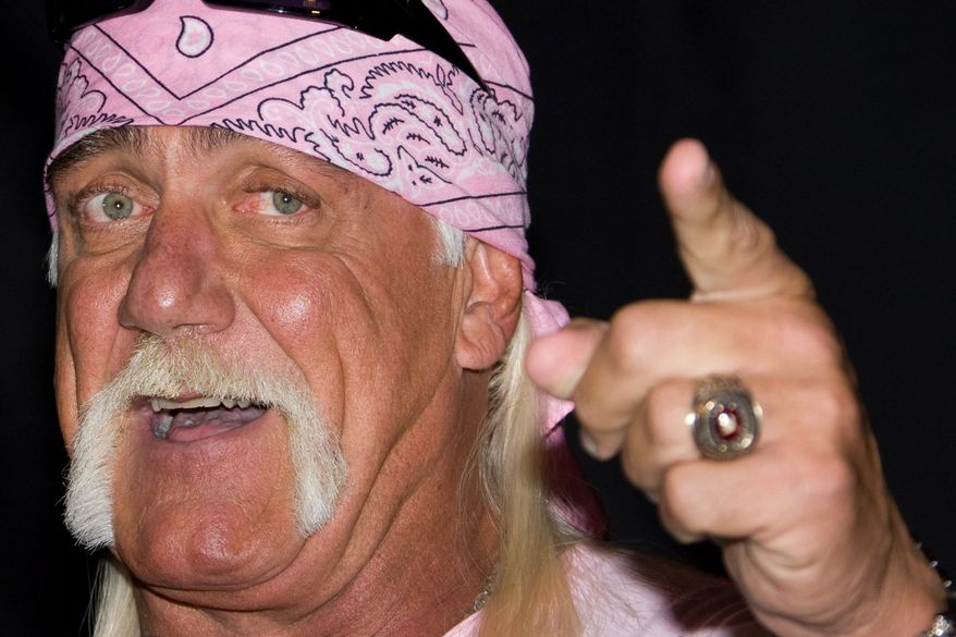 Hulk Hogan attends a news conference to announce his return to wrestling with TNA Wrestling held at Madison Square Garden in New York on Oct. 27, 2009. (Associated Press) ** FILE **
