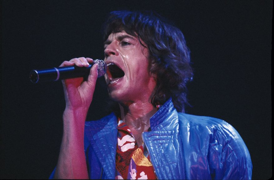 Mick Jagger of the Rolling Stones is seen in concert in 1981, place unknown. (AP Photo)