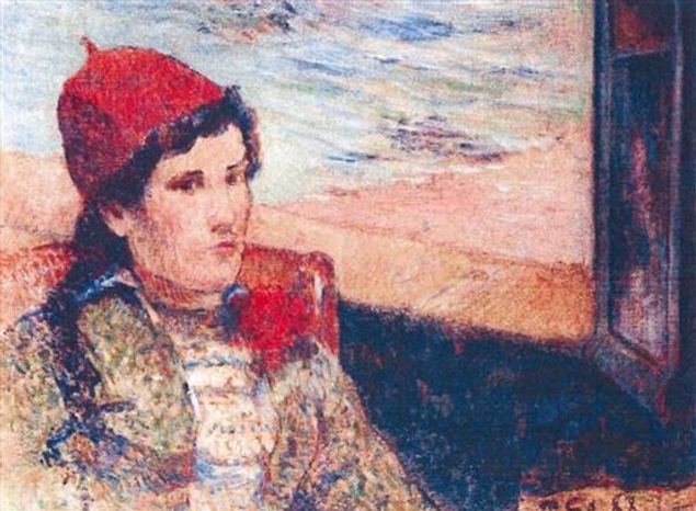 This photo released by the police in Rotterdam, Netherlands, on Tuesday, Oct. 16, 2012, shows the 1898 painting 'Girl in Front of Open Window' by Paul Gaugain. Dutch police say seven paintings stolen from the Kunsthal museum in Rotterdam include one by Pablo Picasso, one by Henri Matisse, and two by Claude Monet. The heist, one of the l