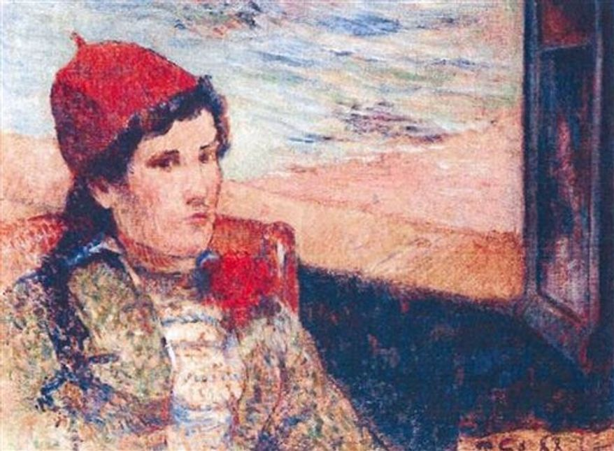 This photo released by the police in Rotterdam, Netherlands, on Tuesday, Oct. 16, 2012, shows the 1898 painting 'Girl in Front of Open Window' by Paul Gaugain. Dutch police say seven paintings stolen from the Kunsthal museum in Rotterdam include one by Pablo Picasso, one by Henri Matisse, and two by Claude Monet. The heist, one of the largest in years in the Netherlands, occurred while the private Triton Foundation collection was being exhibited publicly as a group for the first time. (AP Photo/Police Rotterdam)