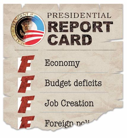 Illustration Presidential Report Card by Greg Groesch for The Washin