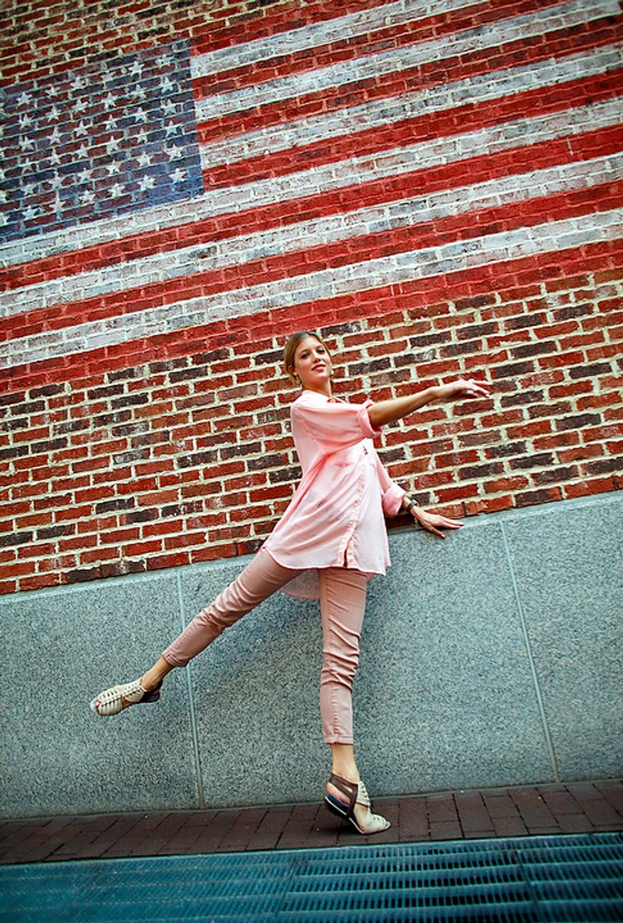 Keenan Kampa, seen here at the Reston Town Center on Aug. 31, 2012, became the first American ballerina to graduate from the Vaganova Academy in St. Petersburg, Russia, and the first American to join the illustrious Mariinsky Ballet. (Eva Russo/Special to The Washington Times)