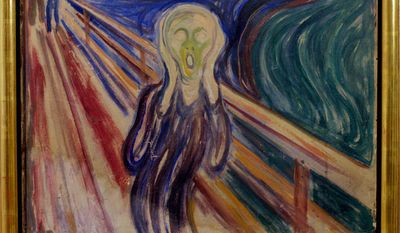 """Edvard Munch's painting """"The Scream"""" is displayed at the Munch Museum in Oslo, May 21, 2008. (AP Photo/Scanpix Norway, Stian Lysberg Solum, File) ** FILE **"""