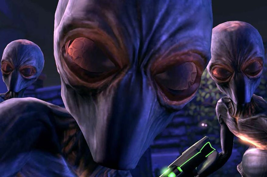 Aliens looking for human specimens in the video game XCOM: Enemy Unknown.