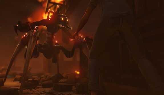 Hostile Aliens attack Earth in the video game XCOM: Enemy Unknown.