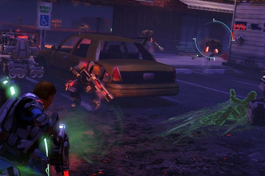 It's humans versus aliens in the video game XCOM: Enemy Unknown.