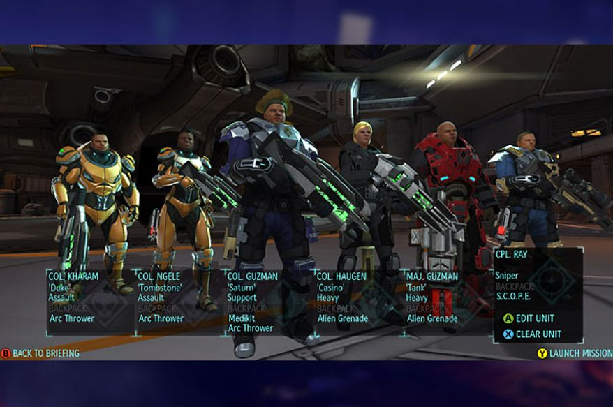 Take a team of up to six specialized troopers into battle in the video game XCOM: Enemy Unknown.