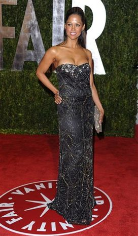 FILE - In this Sunday, March 7, 2010 file photo, Stacey Dash arrives at the Vanity Fair Oscar party in West Hollywood, Calif. Dash, who tweeted an endorsement of Romney, was subjected to a stream of abuse fro