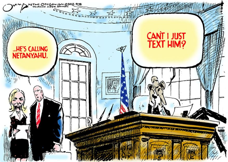 Can't I just text him? (Illustration by Jack Ohman of the Oregonian)