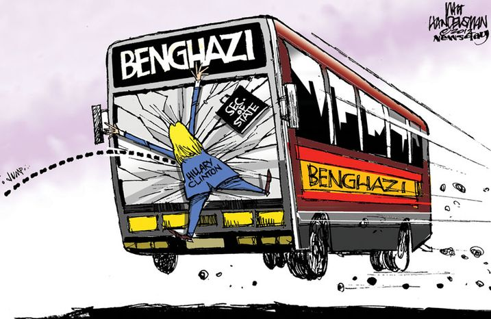 Benghazi / Hillary Clinton (Illustration by Walt Handelsman of Newsday)