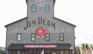 The new Jim Beam American Stillhouse visitors center is a replica of a 1930s stillhouse. (Associated Press)