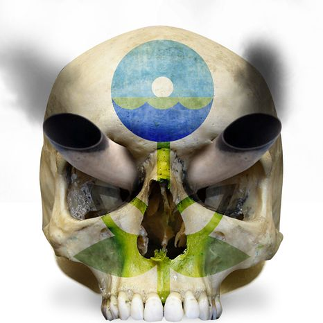 Illustration EPA Skull by Linas Garsys for The Washington Times