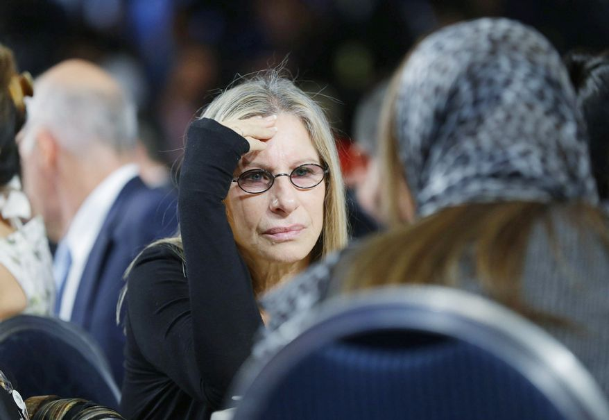 Entertainer Barbra Streisand, seen at the Clinton Global Initiative Annual meeting in New York, endorses President Barack Obama's reelection. (AP Photo/Pablo Martinez Monsivais)