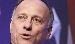 Rep. Steve King, Iowa Republican, speaks in Washington on Thursday, Feb. 10, 2011. (AP Photo/Alex Brandon)