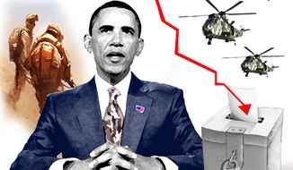 Illustration Obama's Foreign Policy by John Camejo for The Washington Times