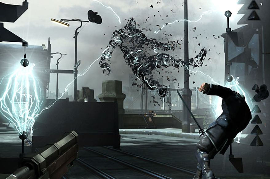 The Wall of Light trap quickly kills all that runs into it in the video game Dishonored.