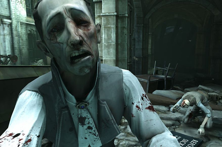 Prepare to avoid infected humans called Weepers in the video game Dishonored.