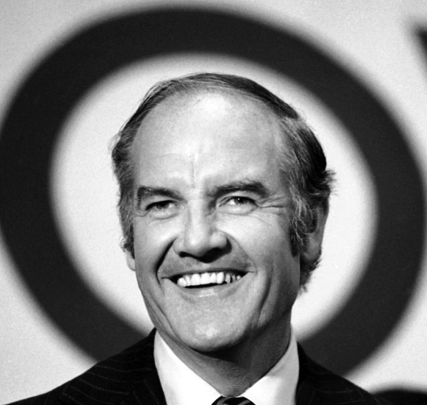 Electing Sen. George McGovern as president in 1972 seemed possible to those whose hopes were dashed by the assassination four years earlier of Sen. Robert F. Kennedy during his presidential run. Mr. McGovern, who died Sunday at 90, lost the election to Richard Nixon. (Associated Press)