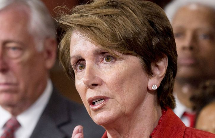 Democratic Minority Leader Nancy Pelosi of California is traveling across the country in hopes of winning House seats for her party. (Associated Press)