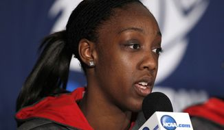 Laurin Mincy is the likely starter at point guard for Maryland with Lauren Moseley sidelined with what coach Brenda Frese fears is a torn ACL. (AP Photo/Gerry Broome)