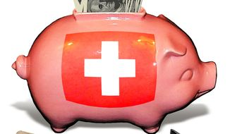 Illustration Piggy Bank by Alexander Hunter for The Washington Times