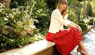 Singer-songwriter Taylor Swift poses for a portrait in Los Angeles on Wednesday, Oct. 17, 2012. (Matt Sayles/Invision/AP)