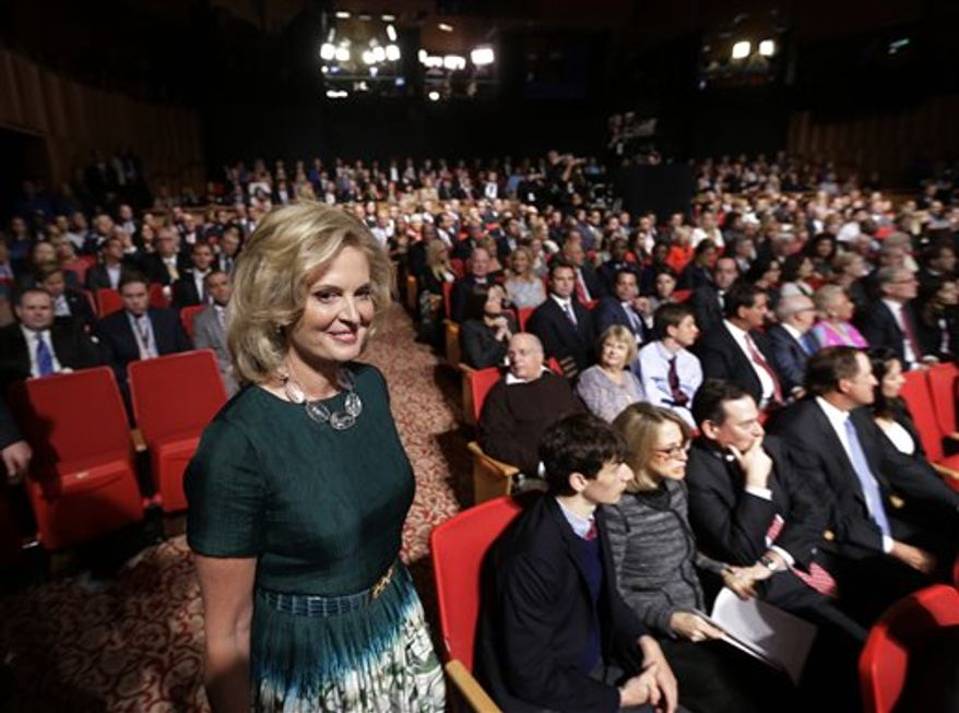 Ann Romney arrives for the third presidential debate between President Barack Obama and Republican presidential nominee Mitt Romney at Lynn University, Monday, Oct. 22, 2012, in Boca Raton, Fla. (AP Photo/Eric Gay)