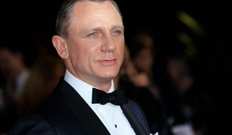 "Daniel Craig arrives at the world premiere of ""Skyfall"" at the Royal Albert Hall on Oct. 23, 2012 in London. (Associated Press) ** FILE **"