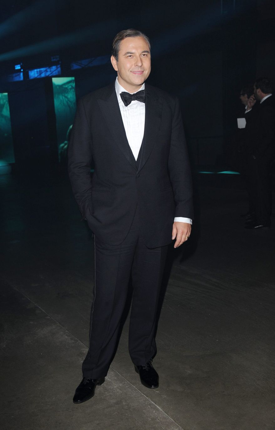 "David Walliams poses at the ""Skyfall"" premiere after party at Tate Modern on Tuesday, Oct. 23, 2012 in London.  (Photo by Stewart Wilson/Invision/AP)"
