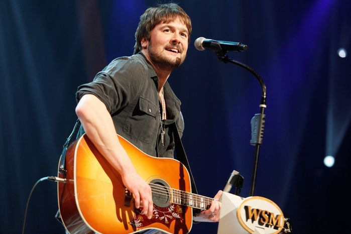 **FILE** Country singer Eric Church performs March 18, 2011, at the Grand Ole Opry in Nashville, Tenn. (Associated Pr