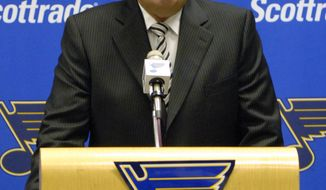 The Columbus Blue Jackets have hired John Davidson to be their president of hockey operations. (AP Photo/Kyle Ericson)