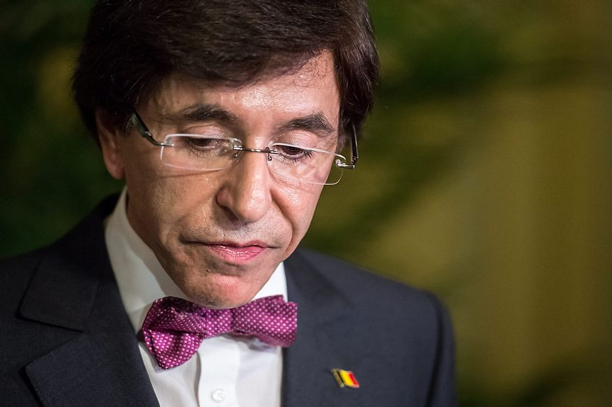 Belgian Prime Minister Elio Di Rupo addresses the media in his office in Brussels on Wednesday, Oct. 24, 2012, on the announced closure of the Belgian Ford factory. The planned closure at the end of 2014 will result in 4,500 direct job losses and 5,000 more among subcontractors. (Associated Press)