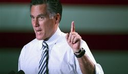 Republican presidential candidate, former Massachusetts Gov. Mitt Romney speaks as he campaigns in Reno, Nev., on Wednesday, Oct. 24, 2012. (AP Photo/Cathleen Allison)