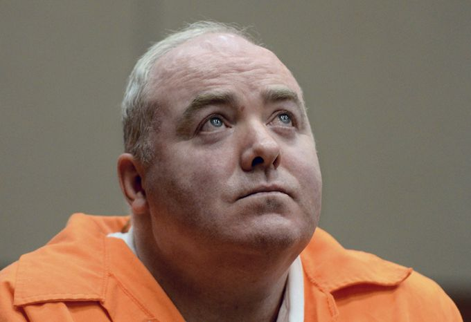 ** FILE ** Michael Skakel looks up while listening to a statement from John Moxley, brother of victim Martha Moxley, in court in Middletown, Conn., on Tuesday, Jan. 24, 2012. (AP Photo/Jessica Hill, Pool)