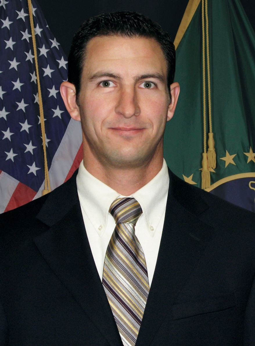 This undated photo provided by U.S. Customs and Border Protection shows Border Patrol agent Nicolas Ivie, who was shot to death Oct. 2, 2012, in Arizona near the U.S.-Mexico line, the first fatal shooting of an agent since 2010. (Associated Press/U.S. Customs and Border Protection)