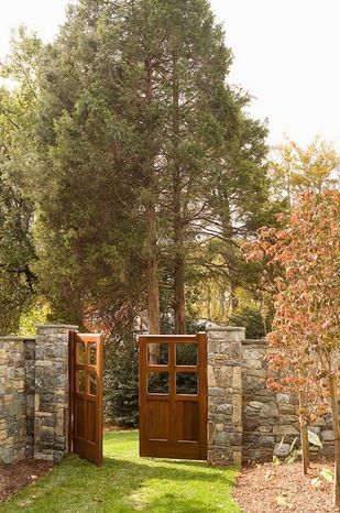 Photo provided by Rill Architects  Jim Rill, principal of Rill Architects in Bethesda, says stone walls and wood elements can help define a yard and make it more interesting in winter.