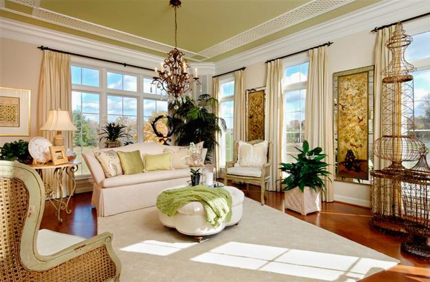 Large windows allow natural light to stream into the home.