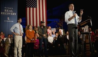 Republican presidential candidate, former Massachusetts Gov. Mitt Romney speaks during a campaign event at the Red Rock Amphitheatre Tuesday, Oct. 23, 2012, in Golden, Colo. (AP Photo/David Goldman)