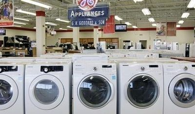 Appliances are displayed Oct. 25, 2012, at Orville's Home Appliances store in Amherst, N.Y. (Associated Press)