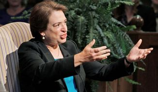 ** FILE ** Justice Elena Kagan. (Associated Press)