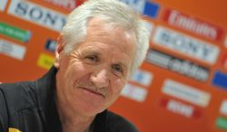The United States has hired Tom Sermanni as its new U.S. women's coach. Sermanni had coached Australia for the last eight years. (AP Photo/Kerstin Joensson)