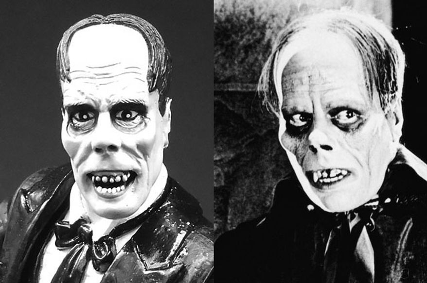 "Diamond Select Toys' Phantom of the Opera compared to Lon Chaney's version from the film classic ""The Phantom of the Opera."" (Photograph by Joseph Szadkowski / The Washington Times)"