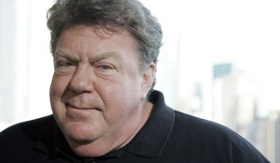 """Actor George Wendt, best known for his work in the long-running TV show """"Cheers,"""" is pictured in New York in 2009. (AP Photo/Jeff Christensen)"""