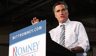 Republican presidential candidate Mitt Romney speaks at a campaign event at the University of Miami, Wednesday, Oct. 31, 2012, in Coral Gables, Fla. (Associated Press)