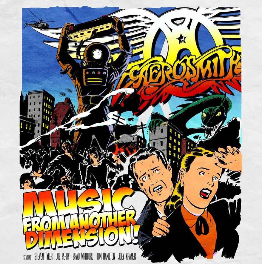 "This album cover image released by Columbia Records shows the latest release by Aerosmith, ""Music from Another Dimension."" (AP Photo/Columbia Records)"