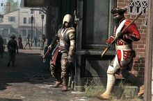 Connor encounters an unlucky British soldier in the video game Assassin's Creed III.