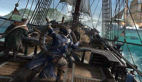 Cmdr. Connor controls the fighting vessel Aquila in the video game Assassin's Creed III.