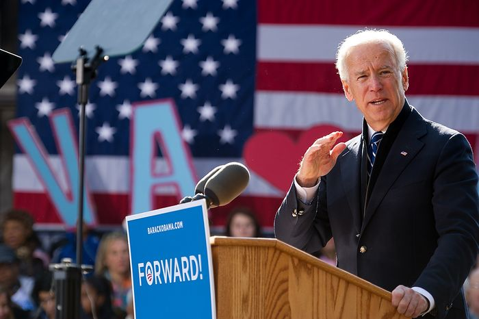 Vice President Joe Biden speaks at a campaign rally at the Heritage Farm Museum at Claude Moore Park, Sterling, Va., Monday, November 5, 2012. Biden was joined on stage by his wife, Dr. Jill Biden, Virginia Democratic candidate for Senate Tim Kaine, Sen. Jim Webb (D-Va.), and Sen. Mark Warner (D-Va.). (Andrew Harnik/The Washington Times)