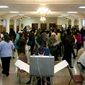 Voters cast their ballots at St. Francis Church, Precinct 111 polling site in Washington, D.C., to cast their vote, Tuesday, Nov. 6, 2012 (Craig Bisacre/The Washington Times) ** FILE **